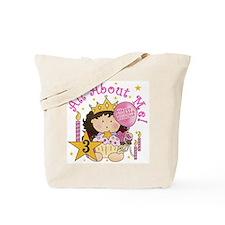 3rd Princess Birthday Tote Bag