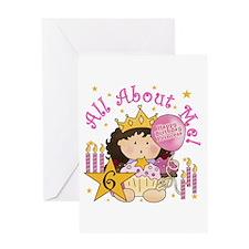 6th Birthday Princess Greeting Card