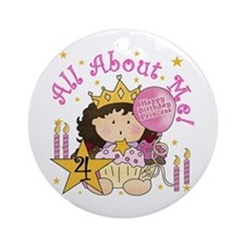 4th Princess Birthday Ornament (Round)