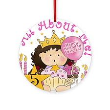 5th Princess Birthday Ornament (Round)