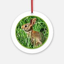 Wild Rabbit Yule Tree Ornament (Round)