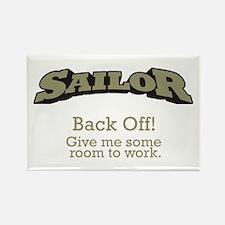 Sailor - Back Off Rectangle Magnet (100 pack)