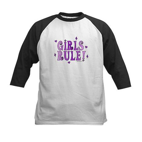 Girls Rule! Boys Drool! Kids Baseball Jersey
