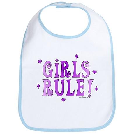 Girls Rule! Boys Drool! Bib