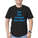Yes I'm Jewish Men's Fitted T-Shirt (dark)