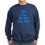 Yes I'm Jewish Sweatshirt (dark)
