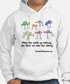 When Two Vowels Go Walking Hoodie