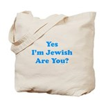 Yes I'm Jewish Tote Bag