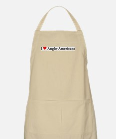I Love Anglo-Americans BBQ Apron