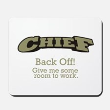 Chief - Back Off Mousepad