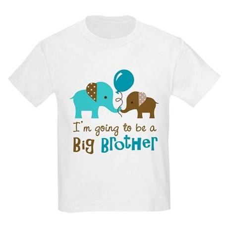 Big Brother to be - Elephant Kids Light T-Shirt