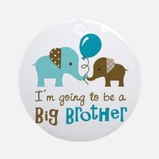 Big Brother to be - Elephant Ornament (Round)