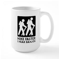 Hike-banjos-blackv2 Mugs