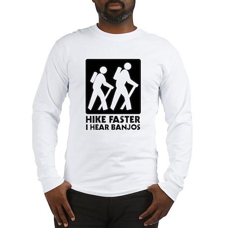 Hike-banjos-blackv2 Long Sleeve T-Shirt