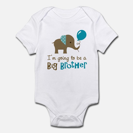 Big Brother to be - Elephant Infant Bodysuit