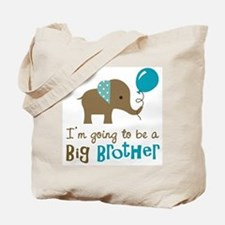 Big Brother to be - Elephant Tote Bag