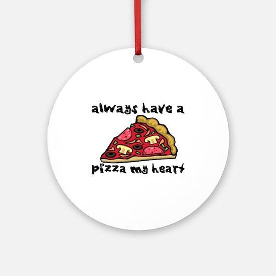 Pizza My Heart Ornament (Round)