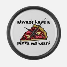 Pizza My Heart Large Wall Clock