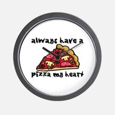 Pizza My Heart Wall Clock