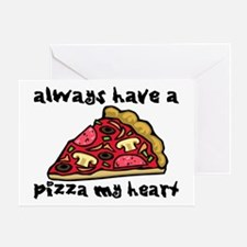 Pizza My Heart Greeting Card