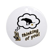 Thinking of You Dog Crap Ornament (Round)