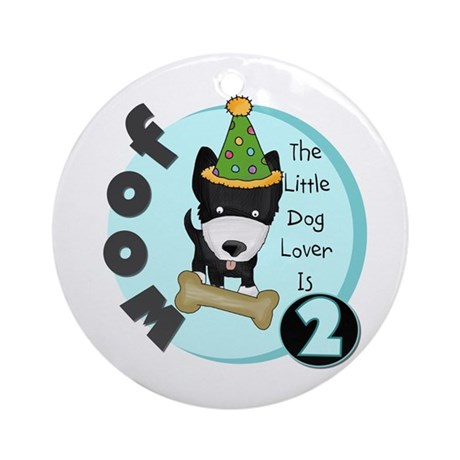 Dog Lover 2nd Birthday Ornament (Round)