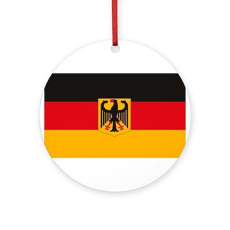 German Flag Ornament (Round)