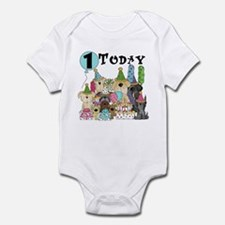 Puppies 1st Birthday Infant Bodysuit