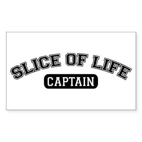 Slice of Life Captain Rectangle Sticker
