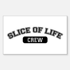 Slice Of Life Crew Rectangle Decal