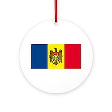 Moldova Flag Ornament (Round)