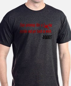 Doakes Quote Grinning Like A Psycho T-Shirt (dark)
