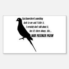 Dark Passenger Pigeon Decal