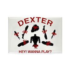 Dexter Hey Wanna Play Rectangle Magnet