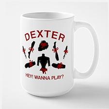 Dexter Hey Wanna Play Large Mug