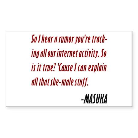 Vince Masuka Quote I Can Explain Sticker (Rectangl