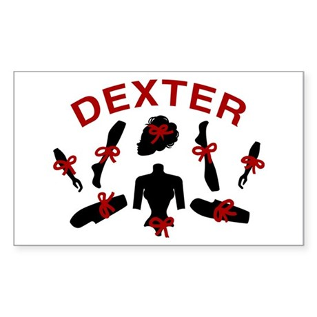 Dexter Dismembered Doll Sticker (Rectangle)