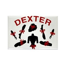 Dexter Dismembered Doll Rectangle Magnet