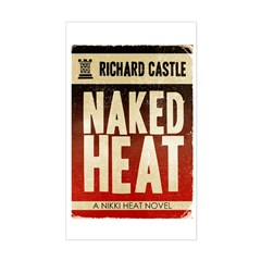 Castle Naked Heat Retro Sticker (Rectangle)