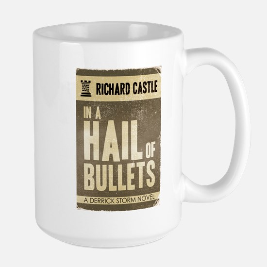 Retro Castle Hail Of Bullets Large Mug