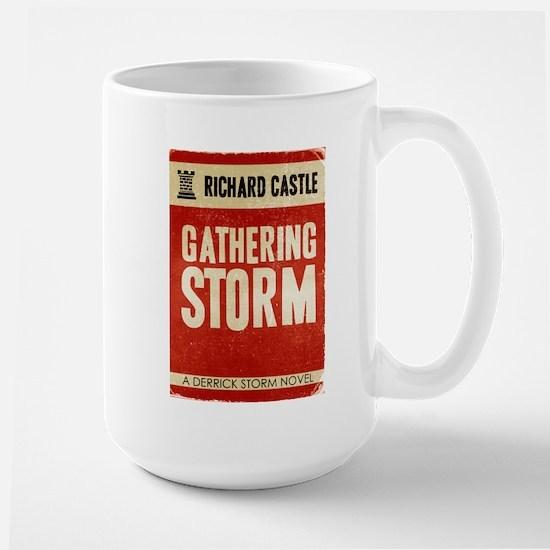 Retro Castle Gathering Storm Large Mug