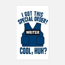 Castle Writer Vest Quote Decal