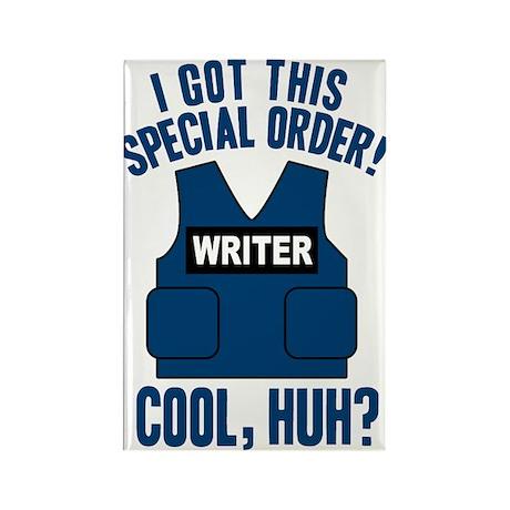 Castle Writer Vest Quote Rectangle Magnet