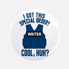 "Castle Writer Vest Quote 3.5"" Button"