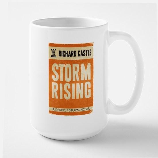 Retro Castle Storm Rising Large Mug