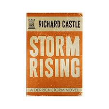 Retro Castle Storm Rising Rectangle Magnet