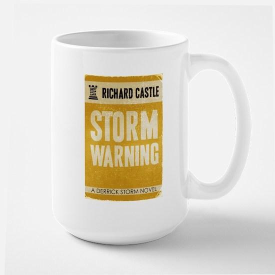 Retro Castle Storm Warning Large Mug