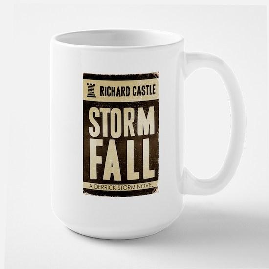 Retro Castle Storm Fall Large Mug