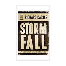 Retro Castle Storm Fall Decal