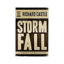 Retro Castle Storm Fall Rectangle Magnet